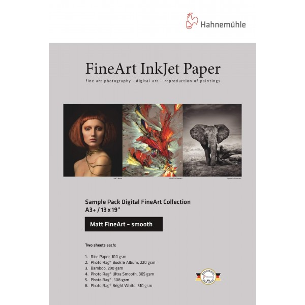 Χαρτί Hahnemühle Sample Pack Matt Fine Art Smooth A4 (10640303)