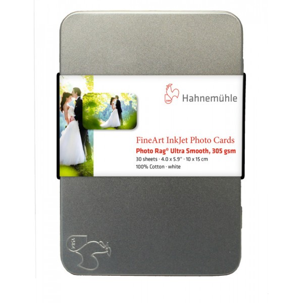 Χαρτί Hahnemühle Photo Rag® Ultra Smooth 10x15 cm 30 sheets 305 gr/m² (10640774)