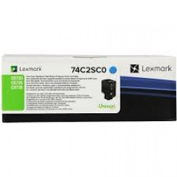 Toner Lexmark Cyan Return Programme 7k pgs (74C2SC0)