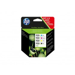Ink HP 920XL Combo Pack 4x Colors (B.1200 & 3x C.700 Pgs) (C2N92AE)