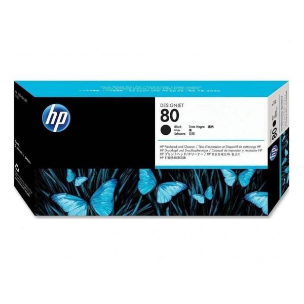Printhead & Cleaner HP 80 Black (C4820A)
