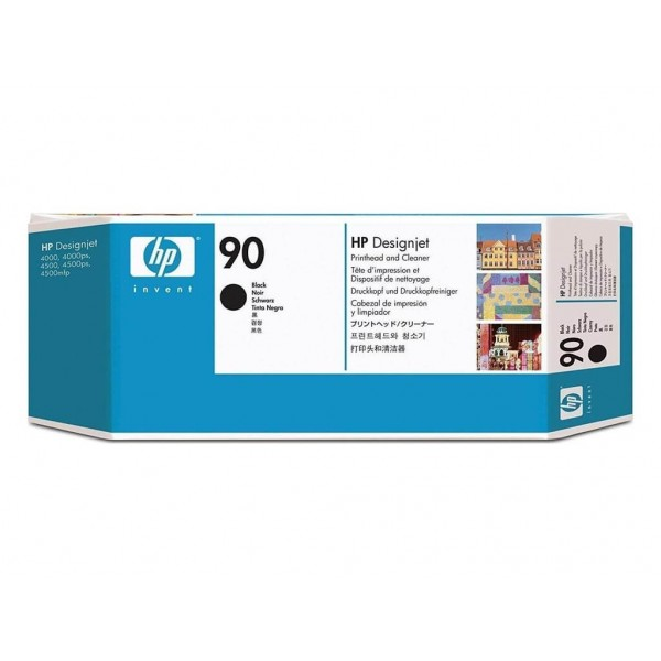 Printhead and Cleaner HP 90 Black (C5054A)