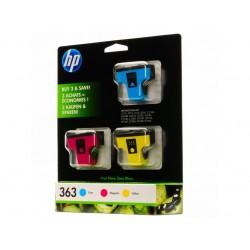 Ink HP 363 Tri Color 3xPack Cartridge(C/M/Y 400/370/500 Pgs) (CB333EE)