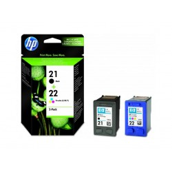 Ink HP 21 / 22 Combo Pack Cartridge (Black 190 Pgs / Color 165 Pgs) (SD367AE)
